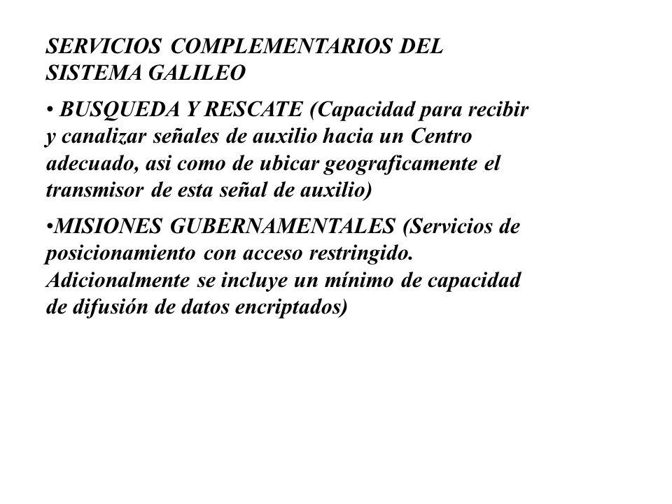 SERVICIOS COMPLEMENTARIOS DEL SISTEMA GALILEO