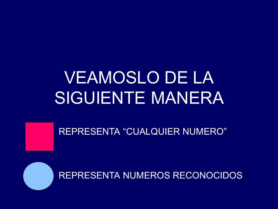 VEAMOSLO DE LA SIGUIENTE MANERA
