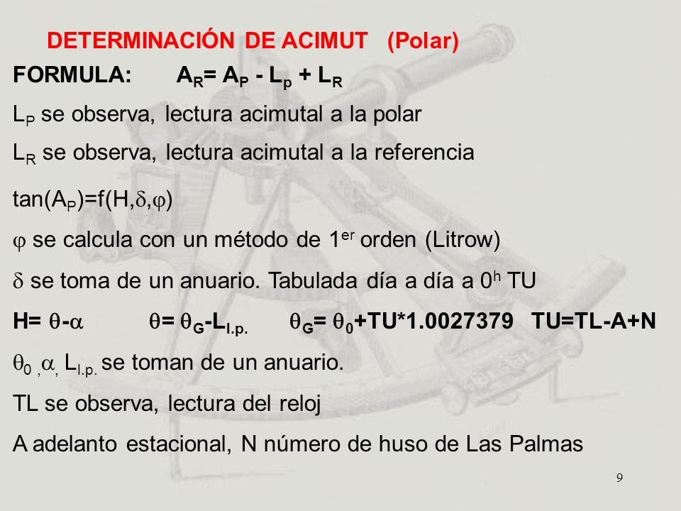 DETERMINACIÓN DE ACIMUT (Polar)