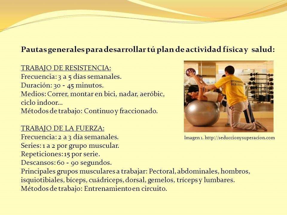 Pautas generales para desarrollar tú plan de actividad física y salud: