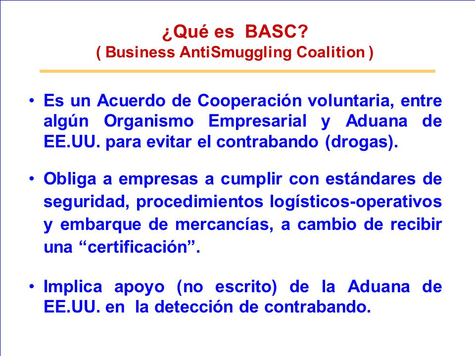 ( Business AntiSmuggling Coalition )