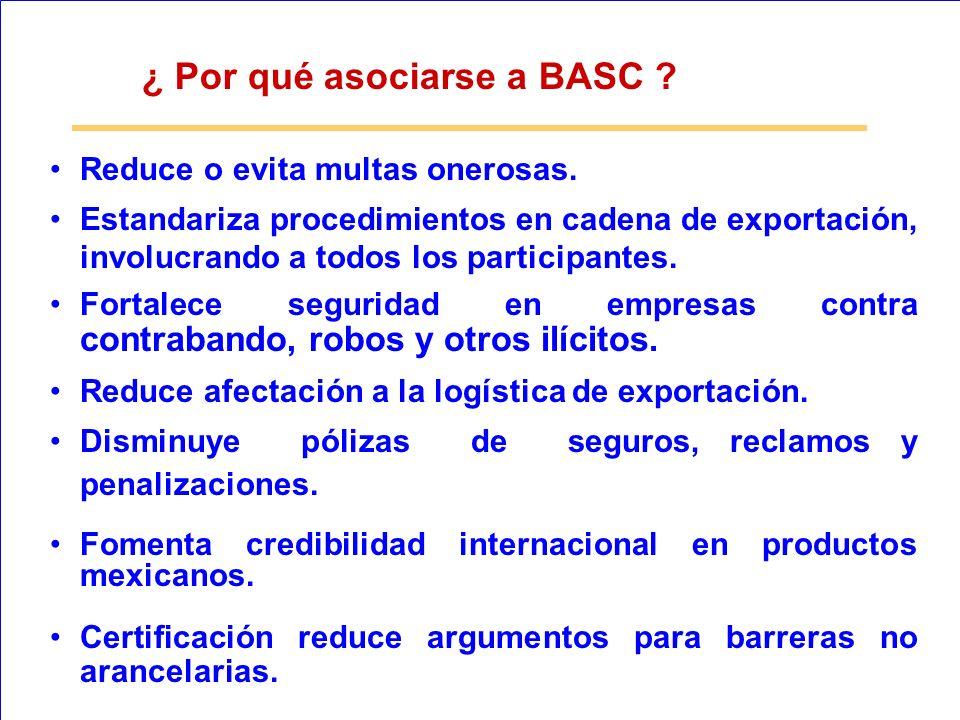 ¿ Por qué asociarse a BASC