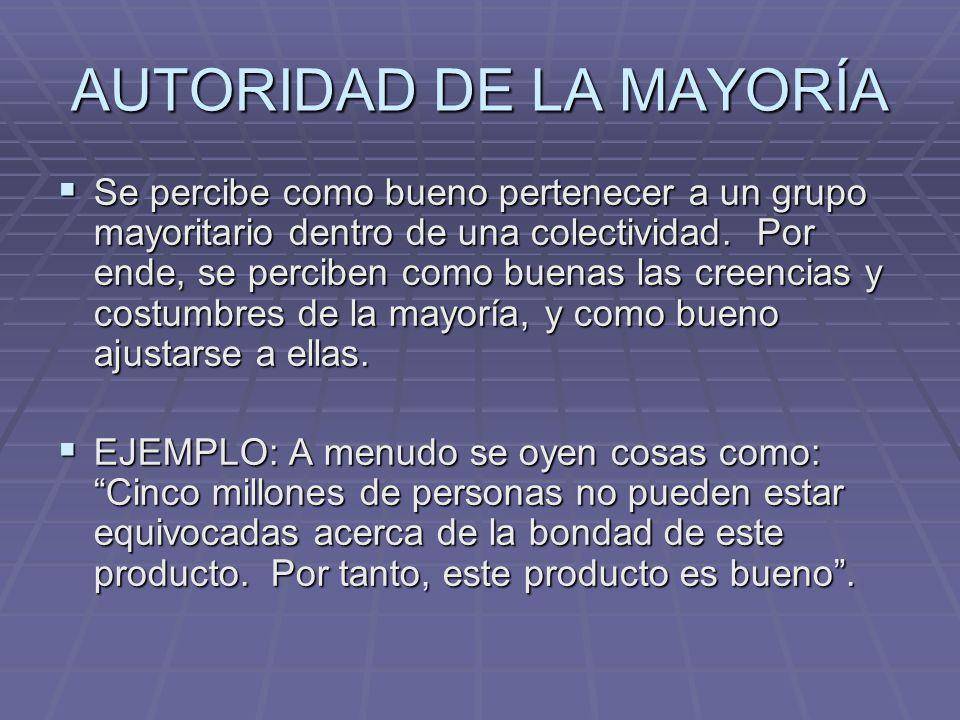 AUTORIDAD DE LA MAYORÍA