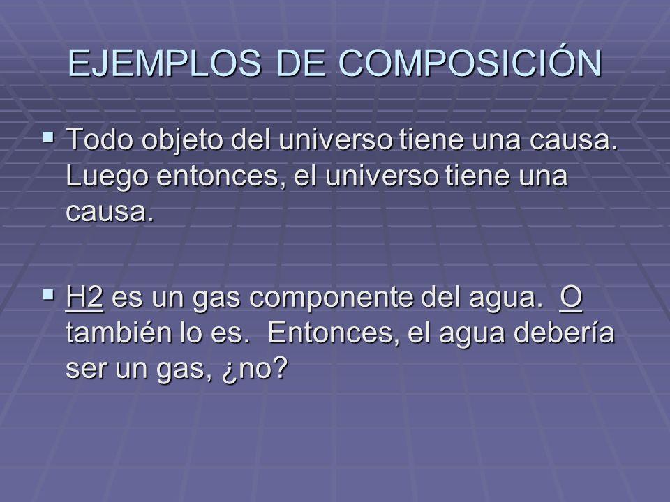 EJEMPLOS DE COMPOSICIÓN