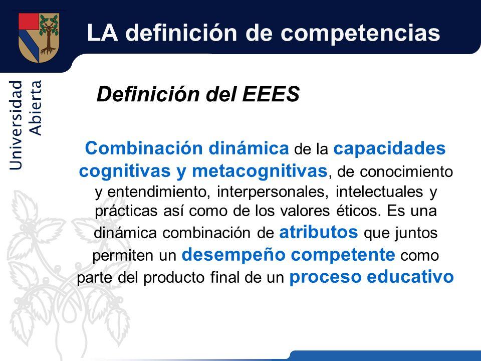 LA definición de competencias