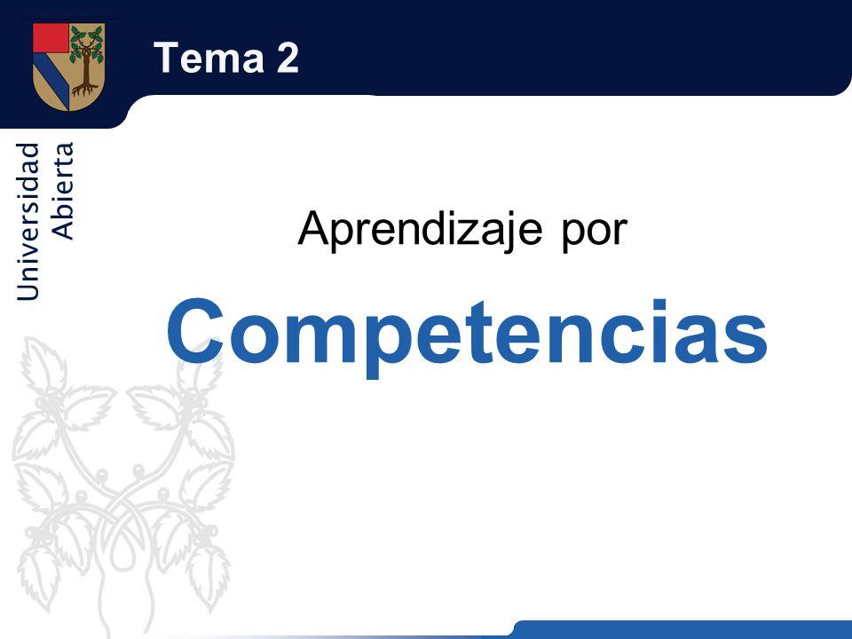 Tema 2 Aprendizaje por Competencias