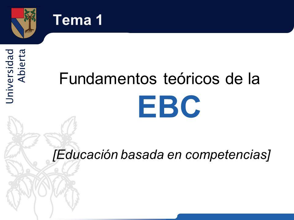 Fundamentos teóricos de la EBC