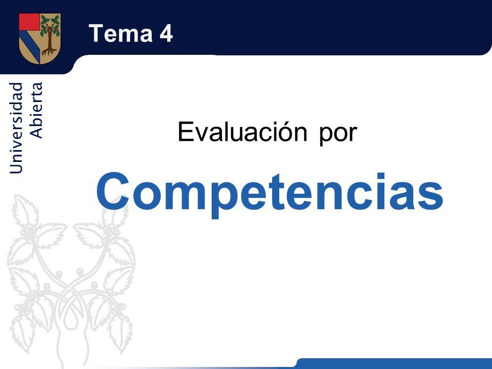Tema 4 Evaluación por Competencias