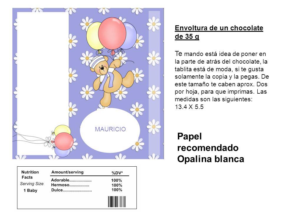 Papel recomendado Opalina blanca