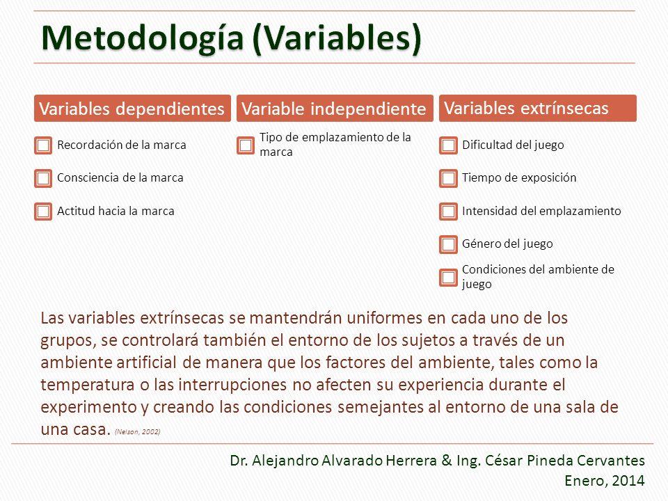 Metodología (Variables)