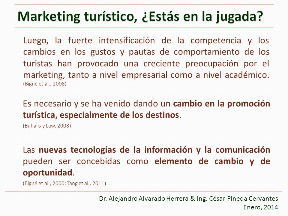 Marketing turístico, ¿Estás en la jugada