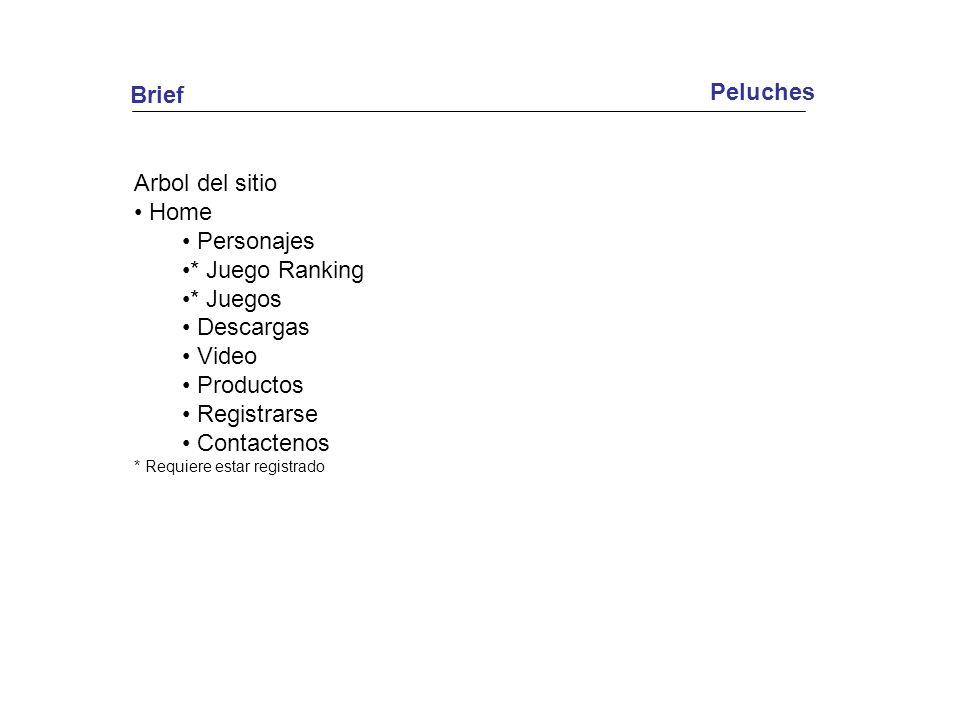 Brief Peluches Arbol del sitio Home Personajes * Juego Ranking