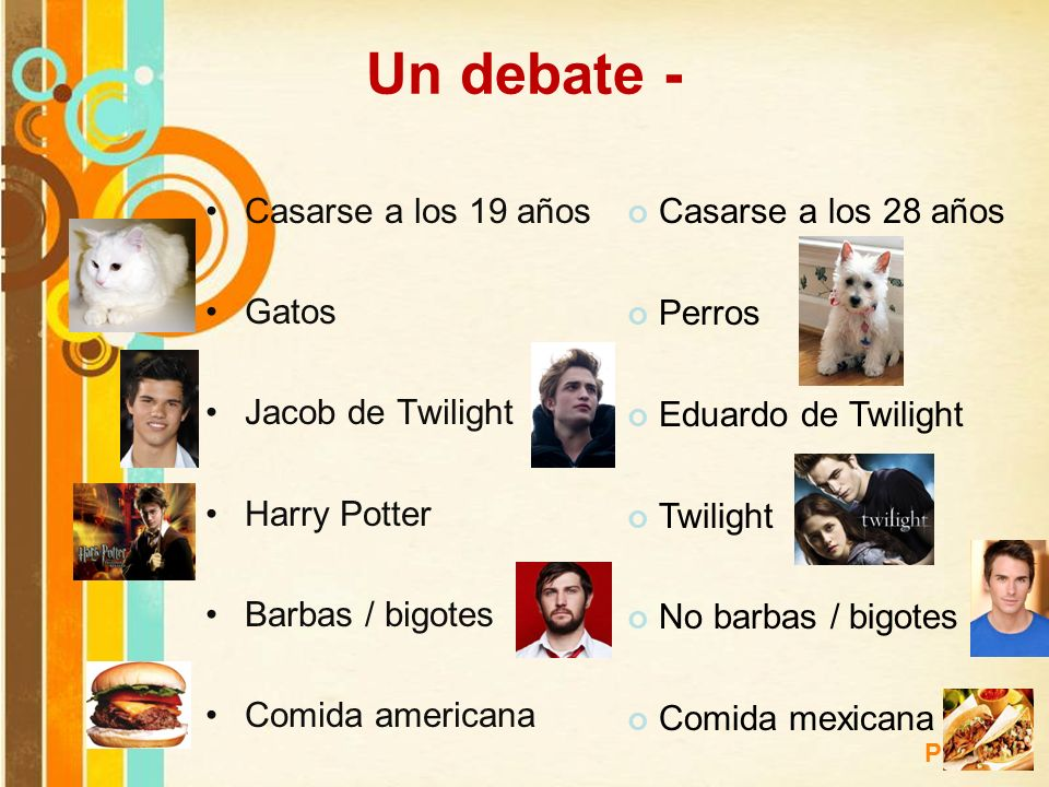 Un debate - Casarse a los 19 años Gatos Jacob de Twilight Harry Potter