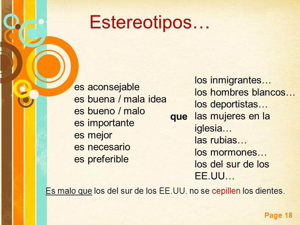Estereotipos… los inmigrantes… es aconsejable los hombres blancos…