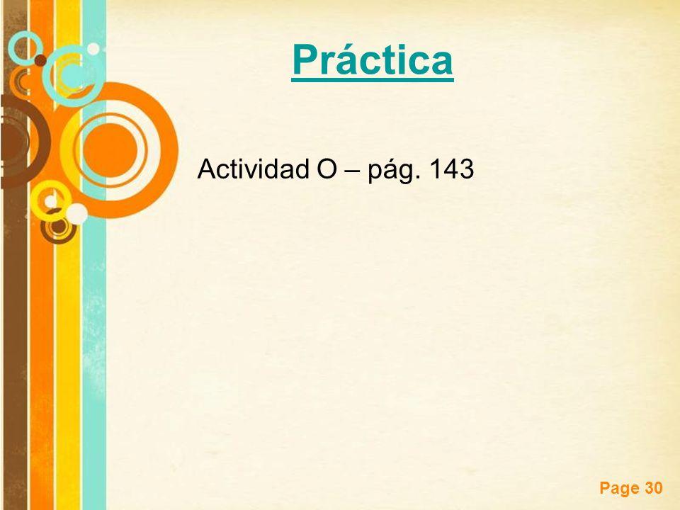 Práctica Actividad O – pág. 143
