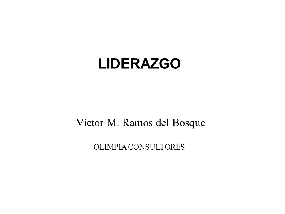 Víctor M. Ramos del Bosque