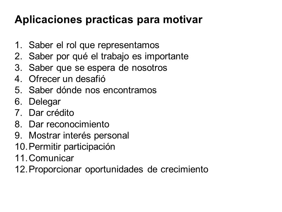 Aplicaciones practicas para motivar