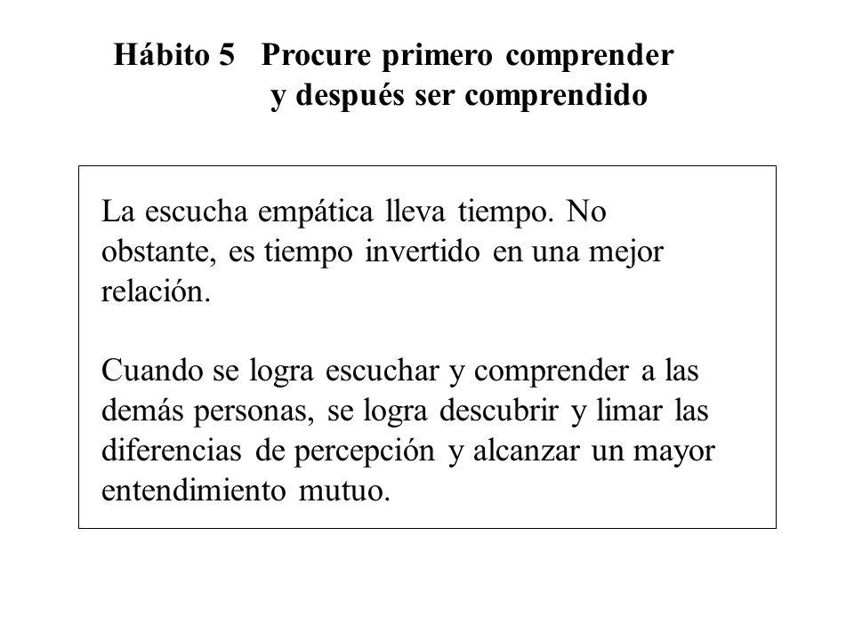 Hábito 5 Procure primero comprender