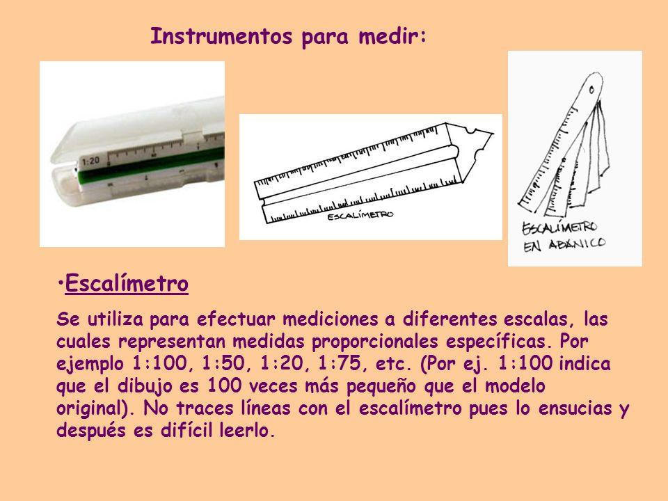 Instrumentos para medir: