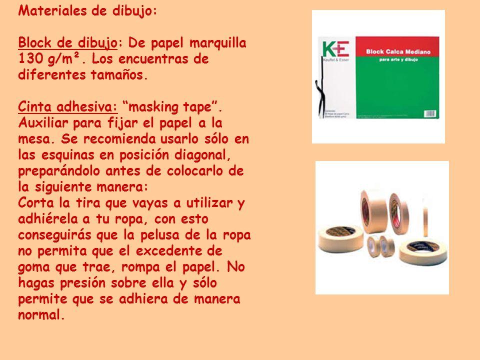 Materiales de dibujo: Block de dibujo: De papel marquilla 130 g/m². Los encuentras de diferentes tamaños.