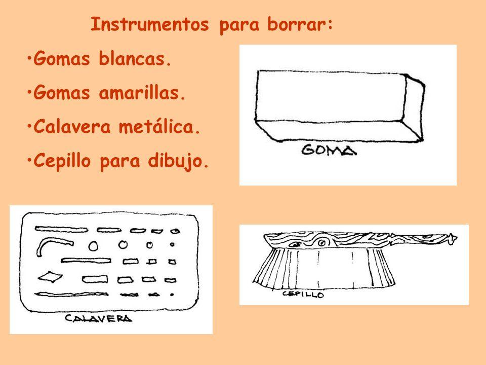 Instrumentos para borrar: