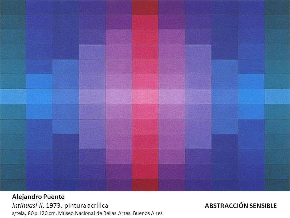 Alejandro Puente Intihuasi II, 1973, pintura acrílica s/tela, 80 x 120 cm. Museo Nacional de Bellas Artes. Buenos Aires