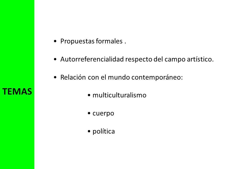 TEMAS Propuestas formales .