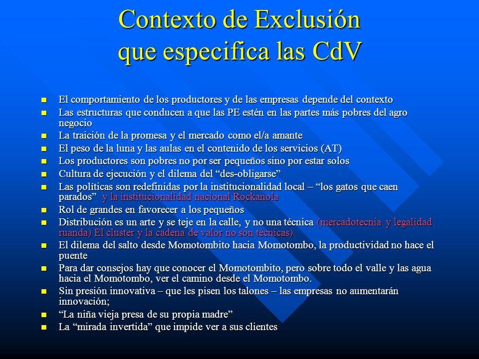 Contexto de Exclusión que especifica las CdV