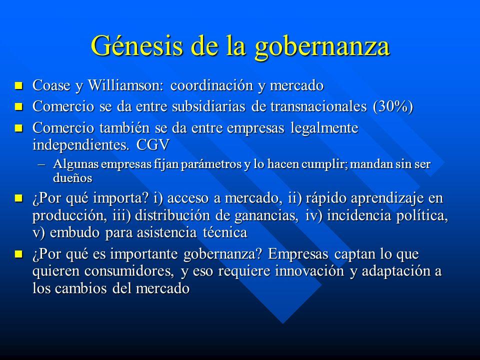 Génesis de la gobernanza