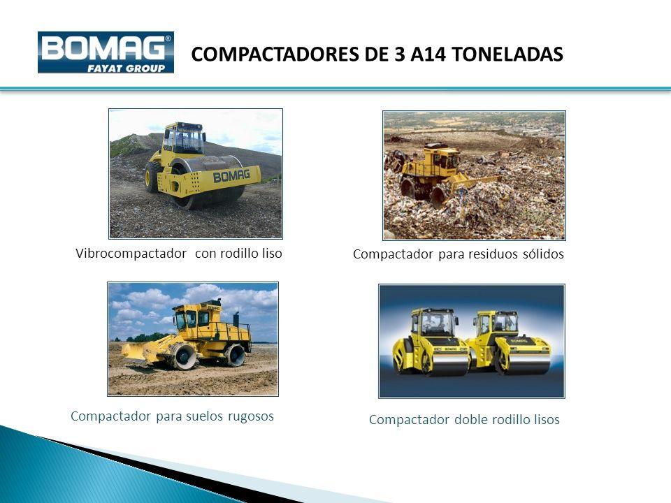 COMPACTADORES DE 3 A14 TONELADAS
