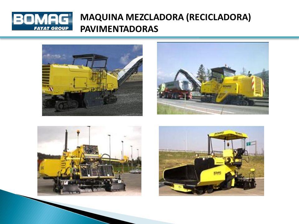 MAQUINA MEZCLADORA (RECICLADORA)