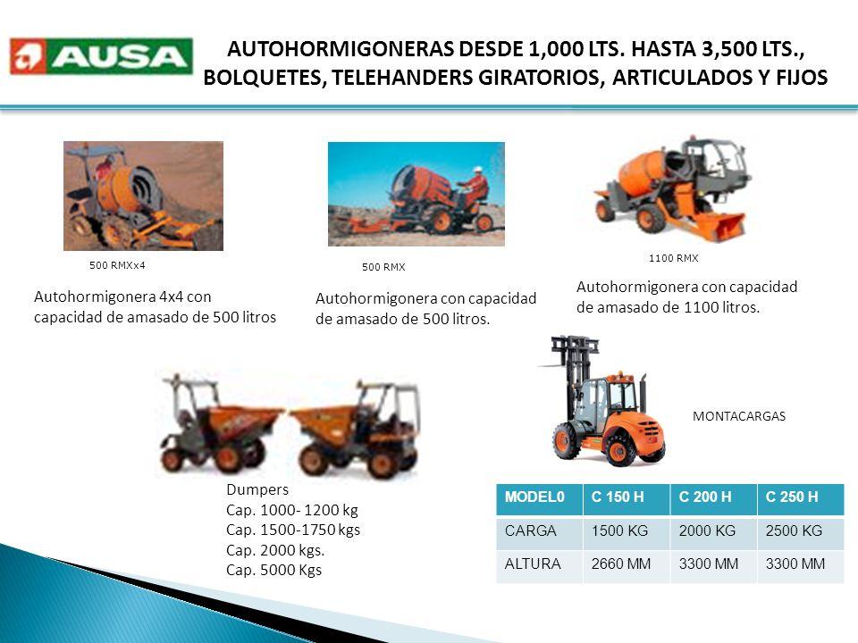 AUTOHORMIGONERAS DESDE 1,000 LTS. HASTA 3,500 LTS