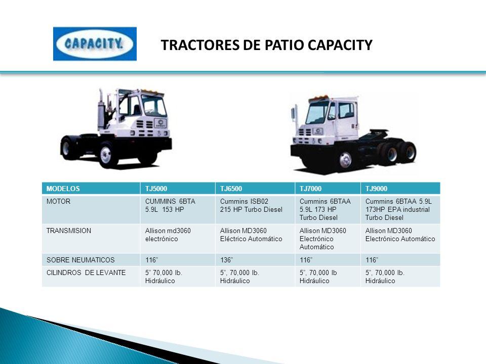 TRACTORES DE PATIO CAPACITY