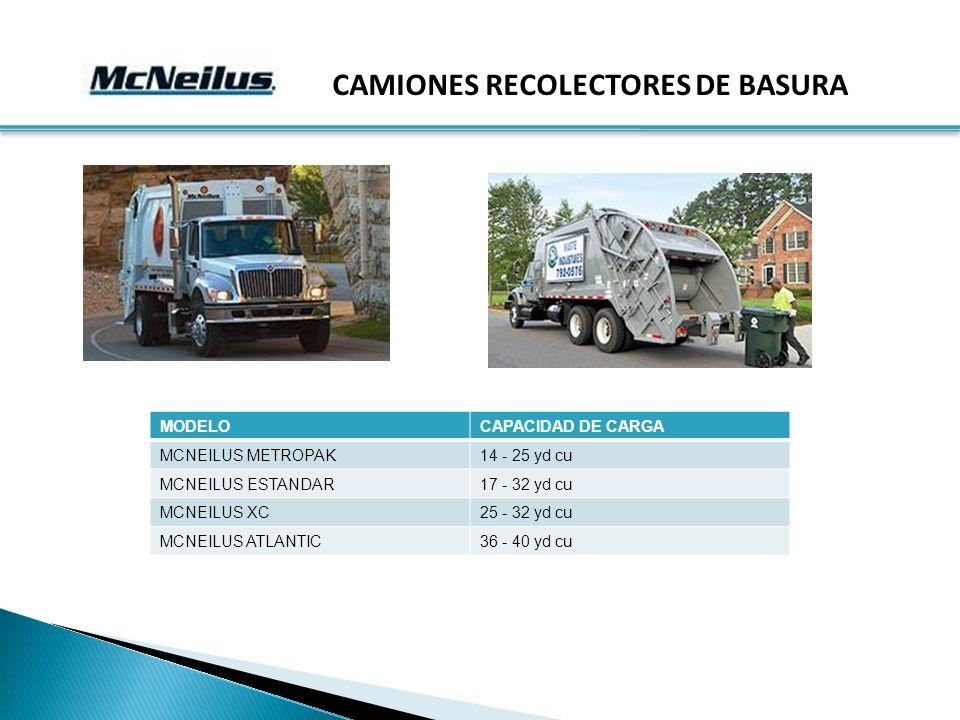 CAMIONES RECOLECTORES DE BASURA