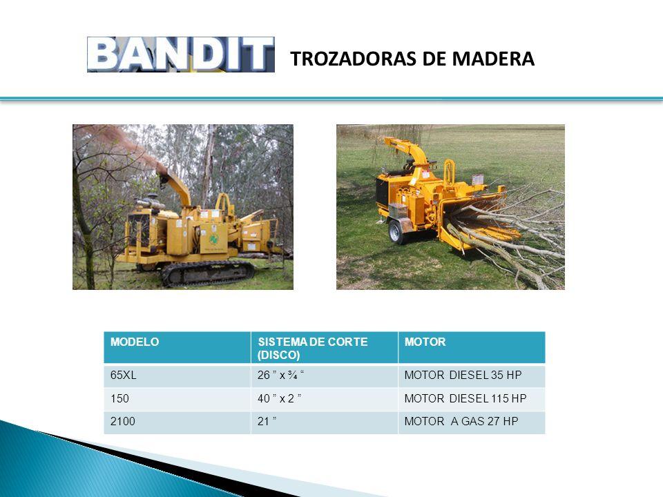 TROZADORAS DE MADERA MODELO SISTEMA DE CORTE (DISCO) MOTOR 65XL