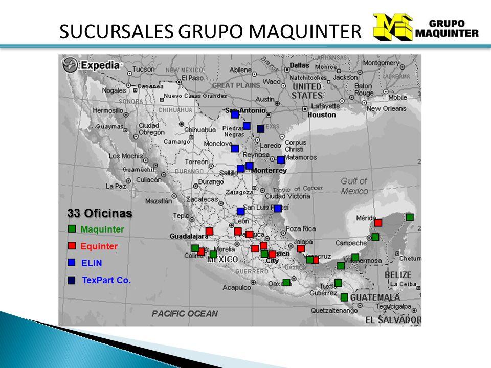 SUCURSALES GRUPO MAQUINTER