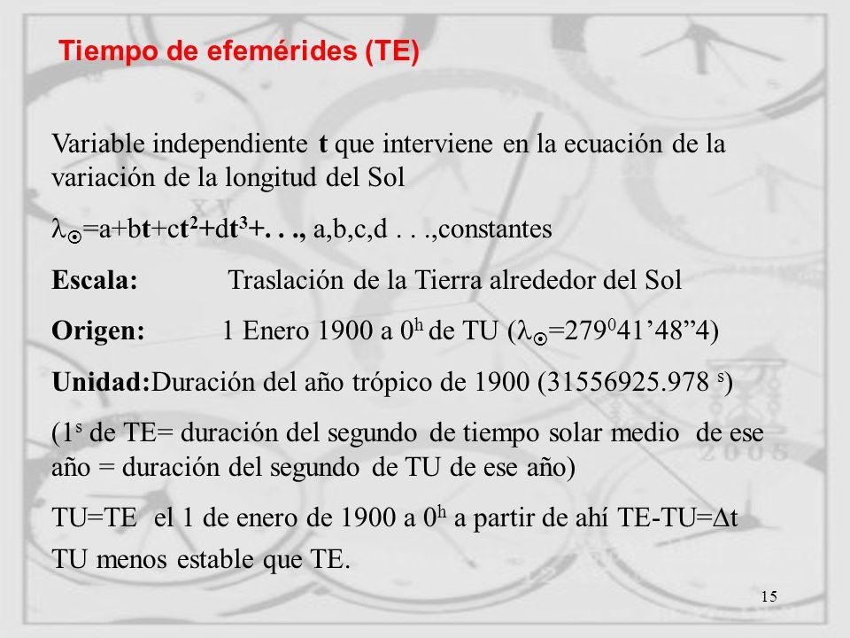 Tiempo de efemérides (TE)