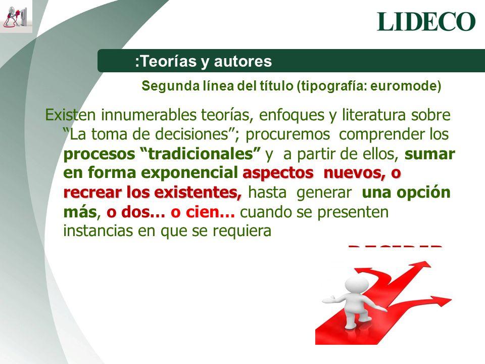 :Teorías y autores Segunda línea del título (tipografía: euromode)