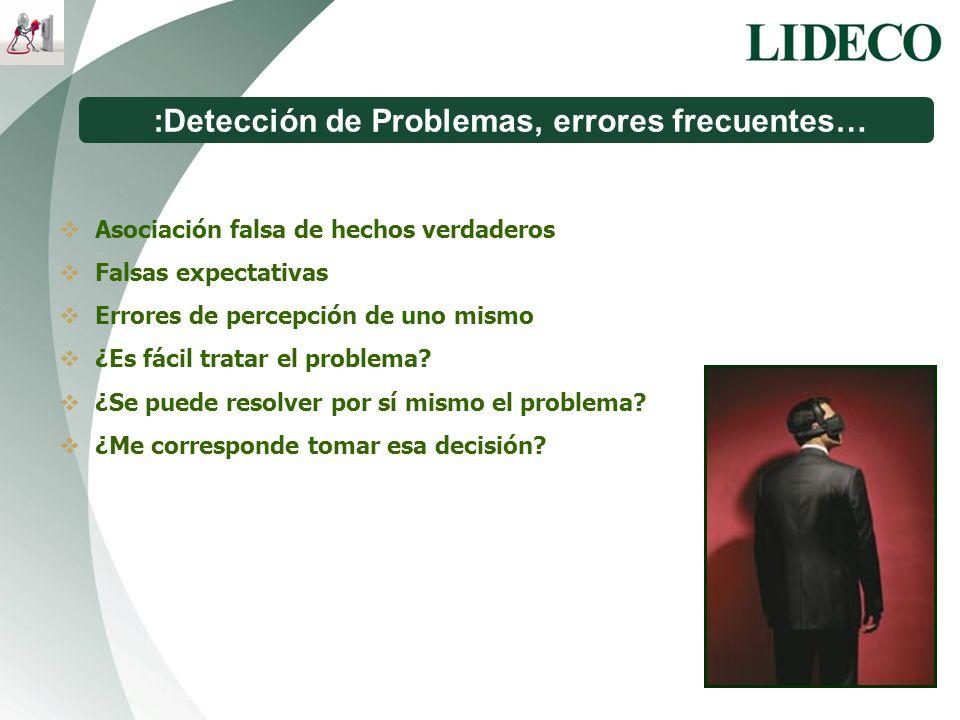 :Detección de Problemas, errores frecuentes…