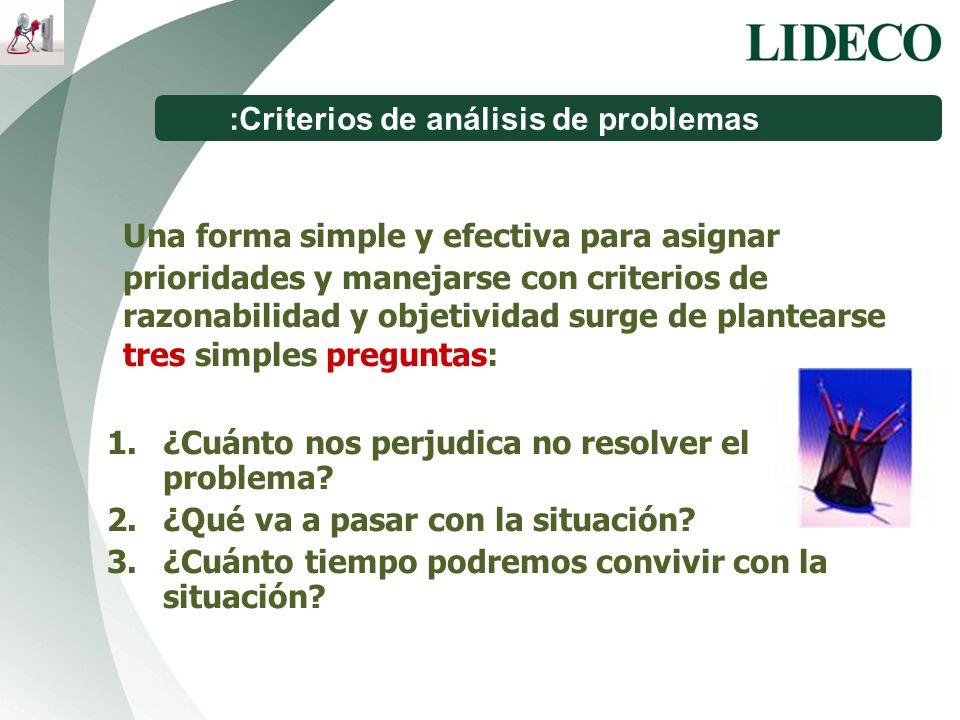 :Criterios de análisis de problemas