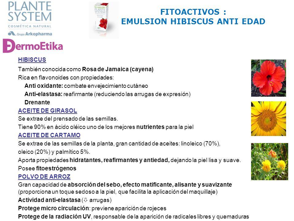 FITOACTIVOS : EMULSION HIBISCUS ANTI EDAD
