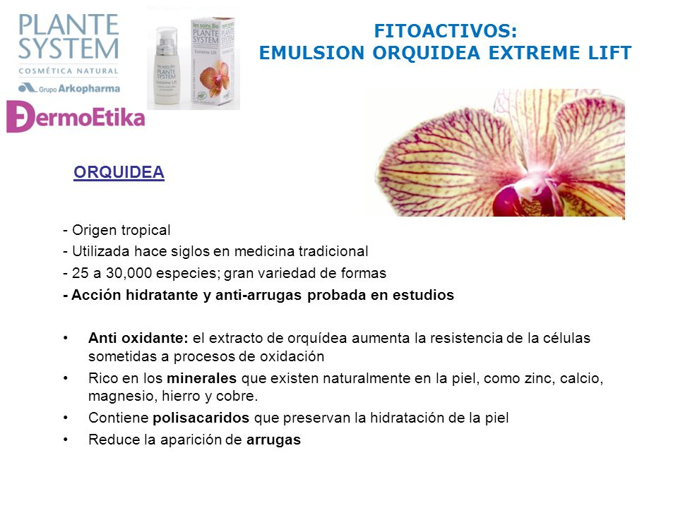 FITOACTIVOS: EMULSION ORQUIDEA EXTREME LIFT