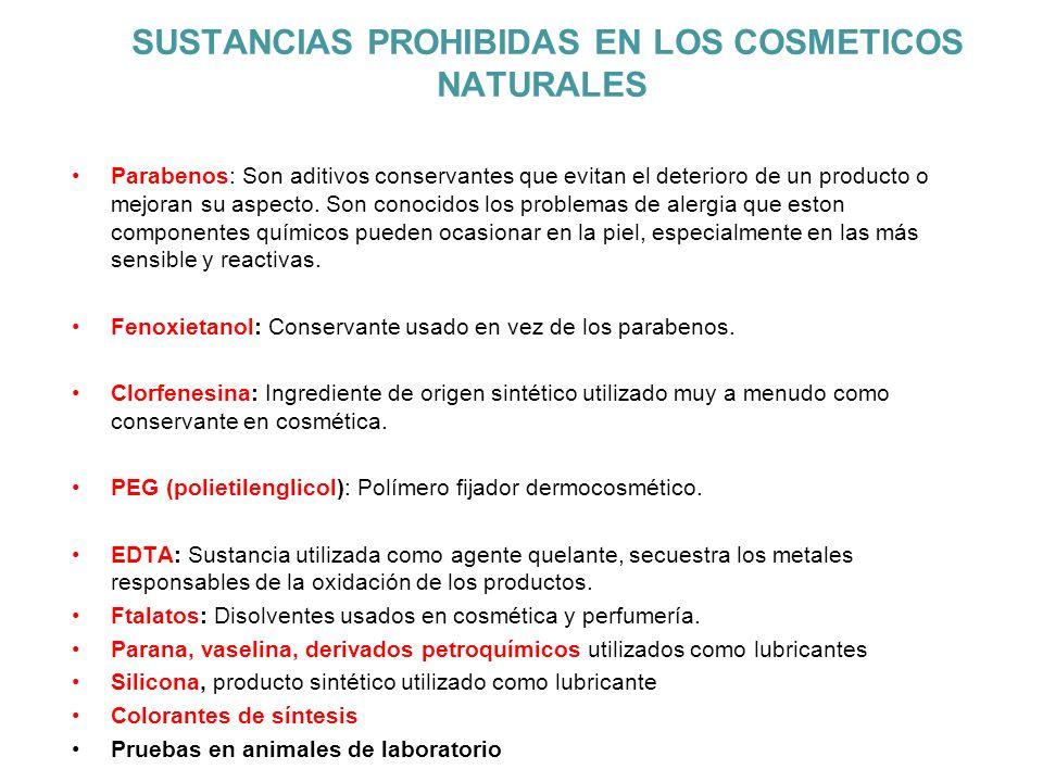 SUSTANCIAS PROHIBIDAS EN LOS COSMETICOS NATURALES