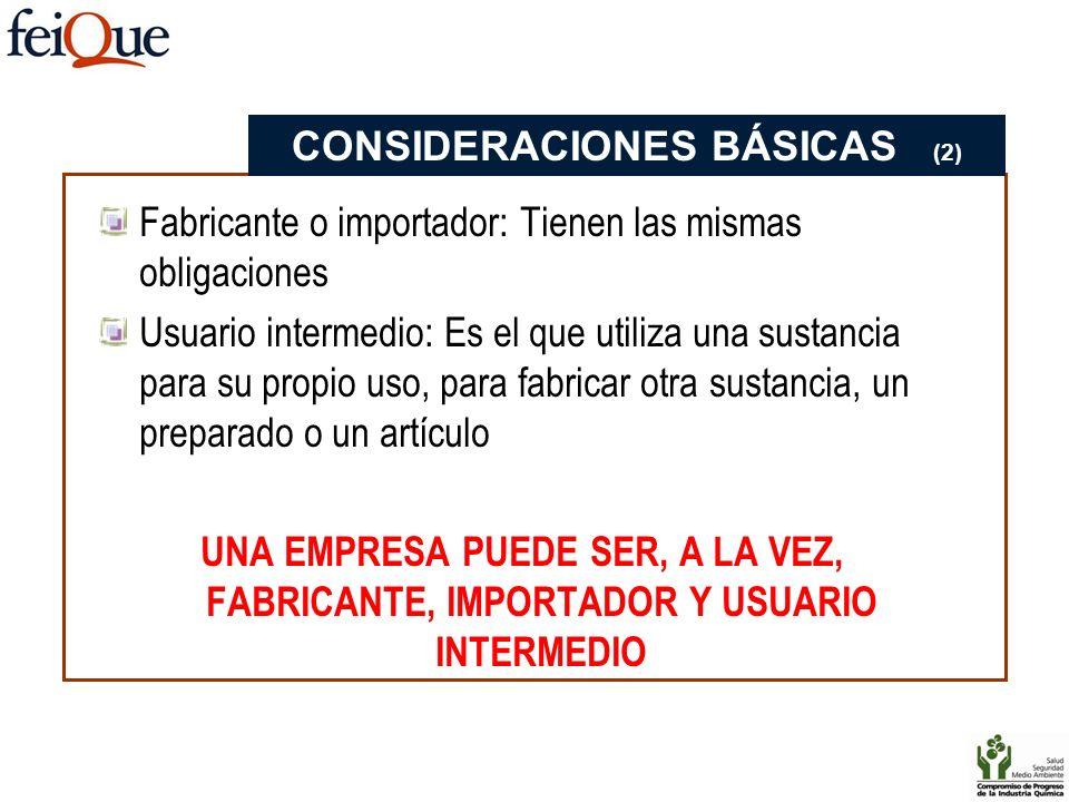 CONSIDERACIONES BÁSICAS (2)