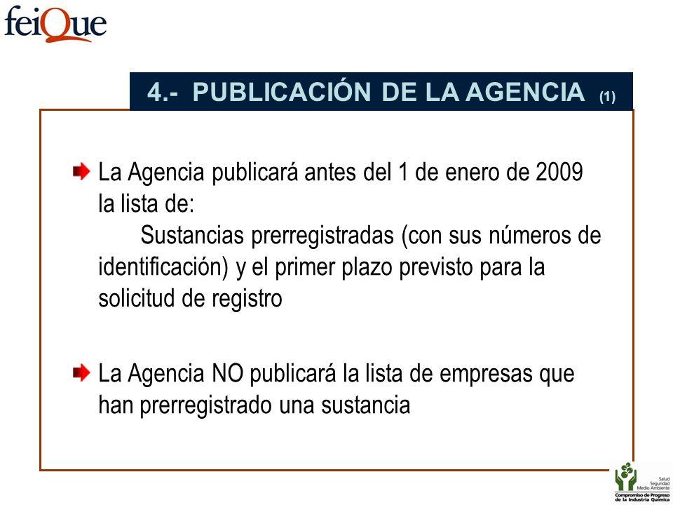 4.- PUBLICACIÓN DE LA AGENCIA (1)