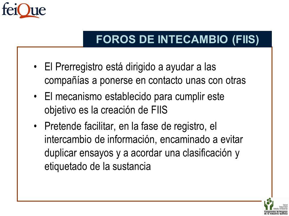 FOROS DE INTECAMBIO (FIIS)