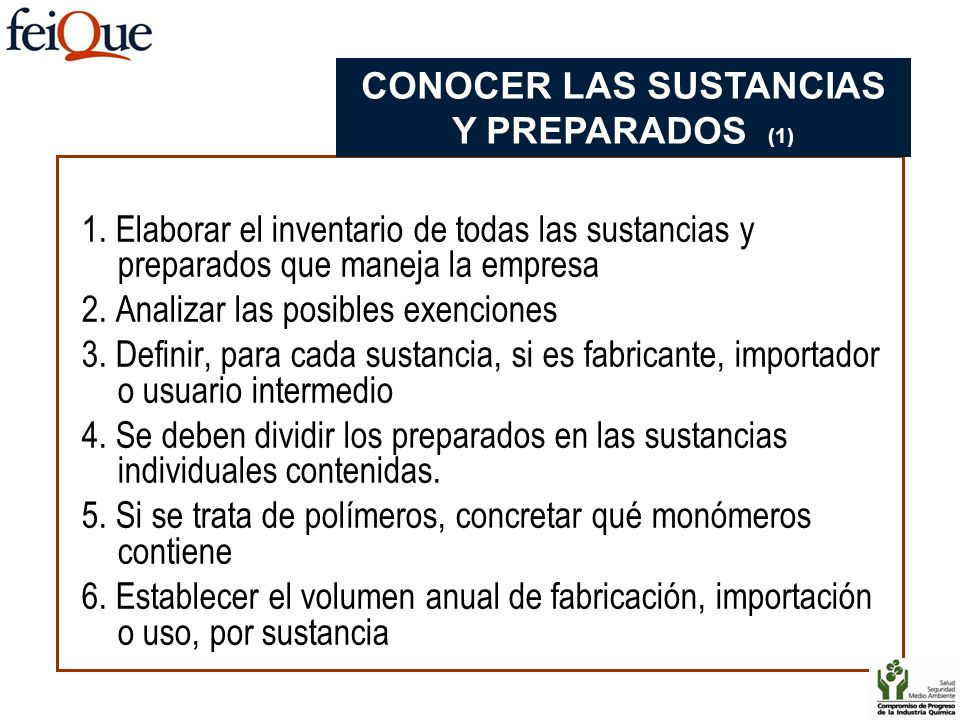 CONOCER LAS SUSTANCIAS Y PREPARADOS (1)