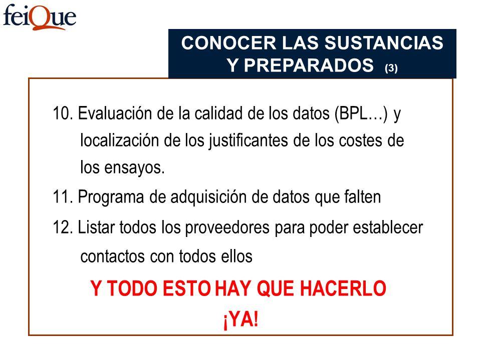 CONOCER LAS SUSTANCIAS Y PREPARADOS (3) Y TODO ESTO HAY QUE HACERLO