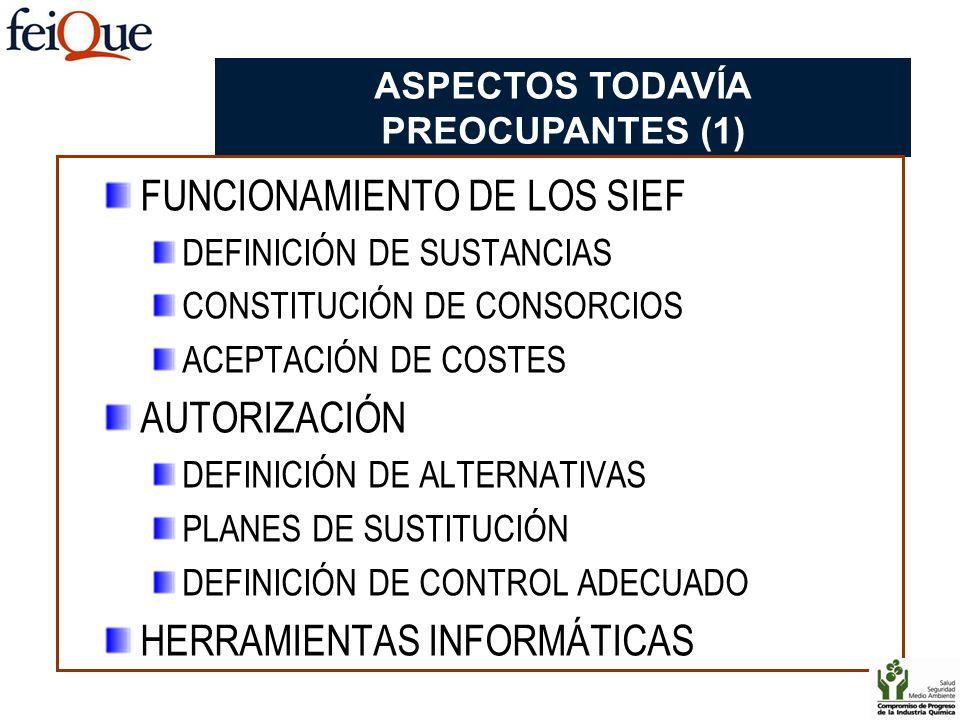 ASPECTOS TODAVÍA PREOCUPANTES (1)