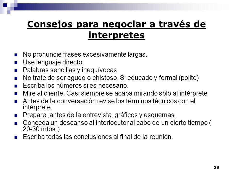 Consejos para negociar a través de interpretes